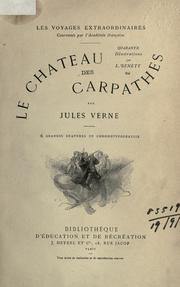 Cover of: Le chateau des Carpathes