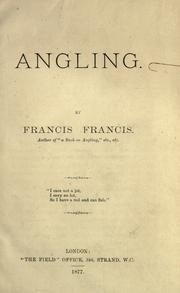 Cover of: Angling | Francis, Francis