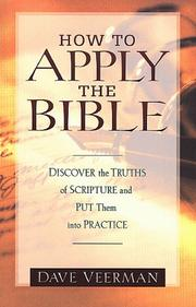 Cover of: How to apply the Bible