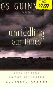 Cover of: Unriddling Our Times