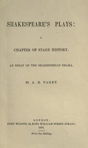 Cover of: Shakespeare's plays
