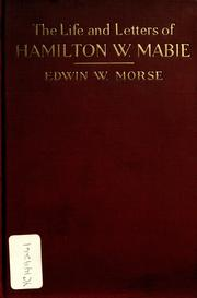 Cover of: The life and letters of Hamilton W. Mabie