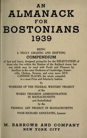 Cover of: An almanack for Bostonians, 1939- | Federal Writers' Project of the Works Progress Administration of Massachusetts.