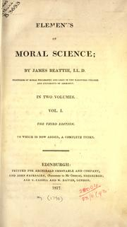 Cover of: Elements of moral science