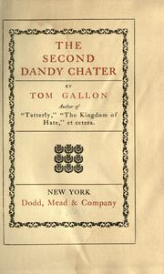 Cover of: The second Dandy Chater