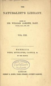 Mammalia by Jardine, William Sir