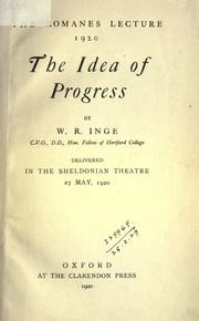 Cover of: The idea of progress
