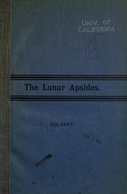 Cover of: The lunar apsides