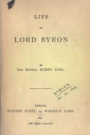 Cover of: Life of Lord Byron
