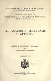 Cover of: Taxation of forest lands in Wisconsin