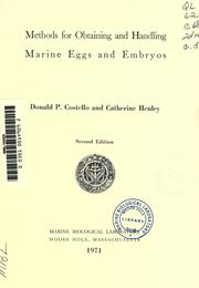 Cover of: Methods for obtaining and handling marine eggs and embryos