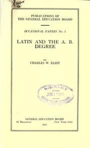 Cover of: Latin and the A.B. degree