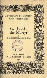 Cover of: St. Justin the Martyr