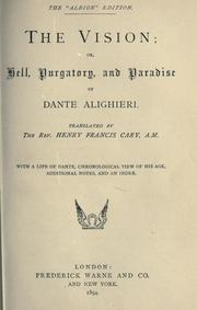 Cover of: The Vision by Dante Alighieri