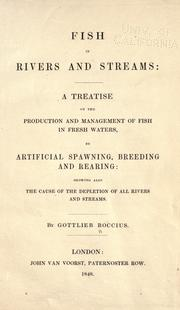 Cover of: Fish in rivers and streams