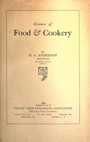 Science of food & cookery by H. S. Anderson