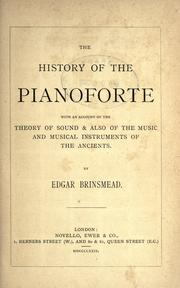 The history of the pianoforte by Edgar Brinsmead