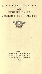 Cover of: A catalogue of an exhibition of angling book plates