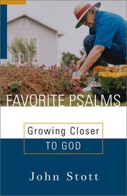 Cover of: Favorite Psalms: growing closer to God
