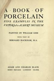 Cover of: A book of porcelain