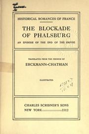 Cover of: The blockade of Phalsburg