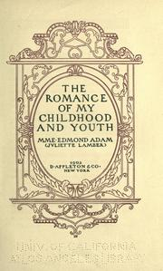 Cover of: The romance of my childhood and youth