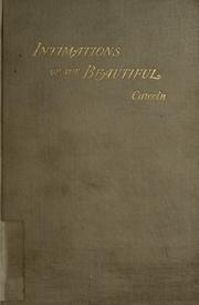 Cover of: Intimations of the beautiful: and poems