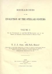 Researches on the evolution of the stellar systems .. by T. J. J. See