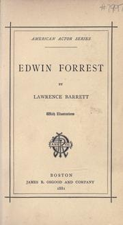 Cover of: Edwin Forrest