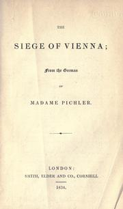 Cover of: The siege of Vienna