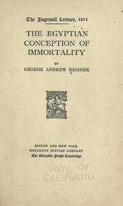 Cover of: The Egyptian conception of immortality