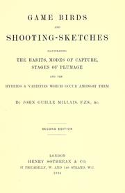Cover of: Game birds and shooting-sketches