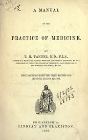Cover of: A manual of the practice of medicine