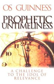 Cover of: Prophetic Untimeliness