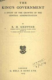 Cover of: The king's government