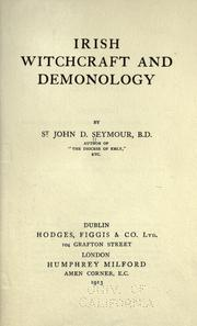 Cover of: Irish witchcraft and demonology