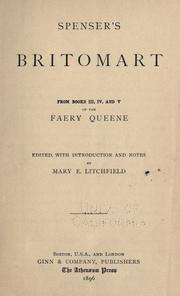 Cover of: Spenser's Britomart: from books III, IV, and V of the Faery queene