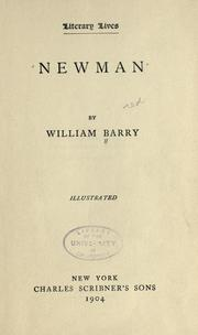 Newman by Barry, William Francis