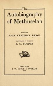 Cover of: The autobiography of Methuselah