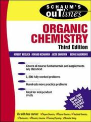 Cover of: Schaum's outline of theory and problems of organic chemistry