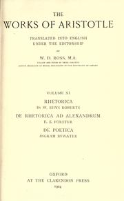 Cover of: The works of Aristotle | Aristotle