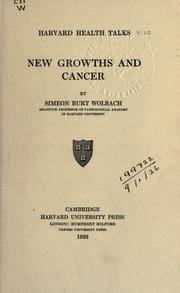 Cover of: New growths and cancer