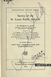 Survey of the St. Louis public schools by Judd, Charles Hubbard