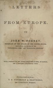 Cover of: Letters from Europe