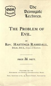 Cover of: The problem of evil