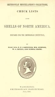 Cover of: Check lists of the shells of North America