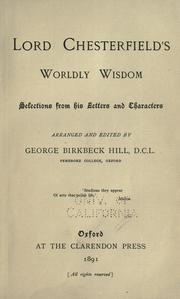 Cover of: Lord Chesterfield's worldly wisdom