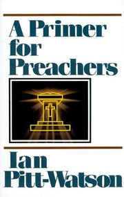Cover of: A primer for preachers