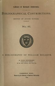 Cover of: A bibliography of William Hogarth