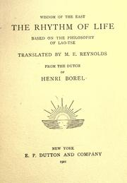 Cover of: The rhythm of life
